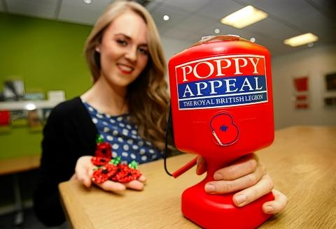Home-made poppies raise nearly £4,000 for Royal British Legion