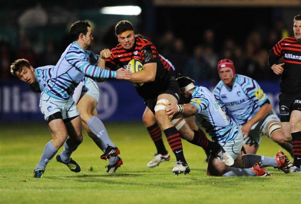Jono Ross battles forward