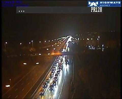 Recycling plant fire causes delays on M1 and M25 near Watford