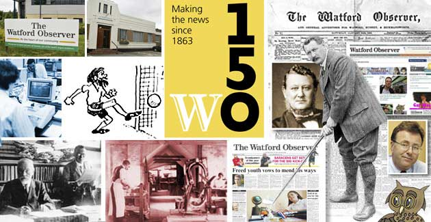 Watford Observer: Watford Observer 150th Anniversary Web Banner
