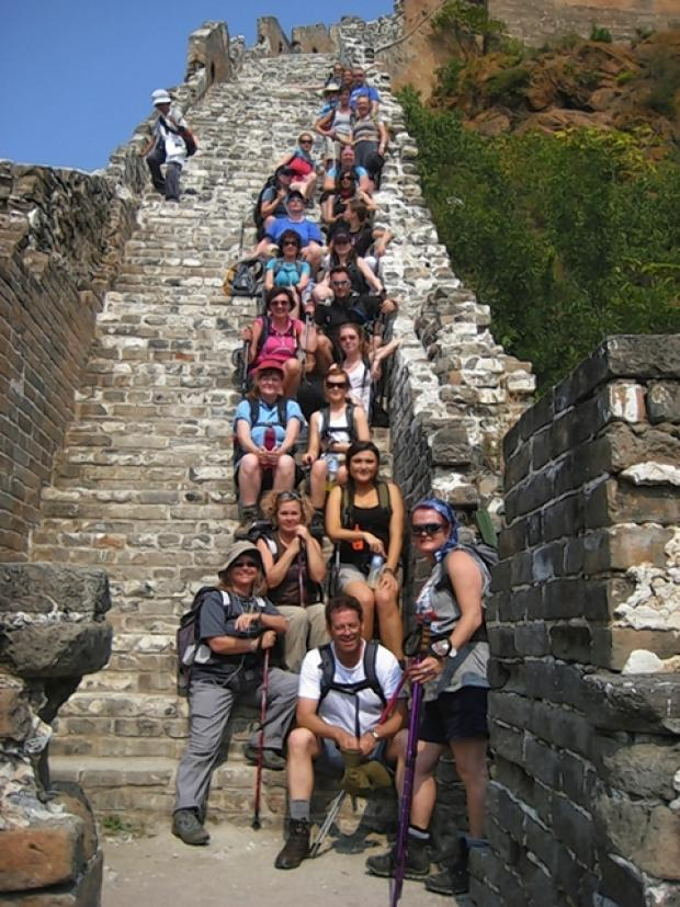 Camelot volunteers at the Great Wall of China.