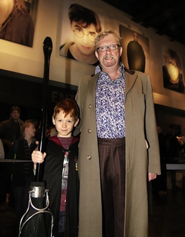 Benjamin Dudley with Arthur Weasley aka actor Mark Williams.