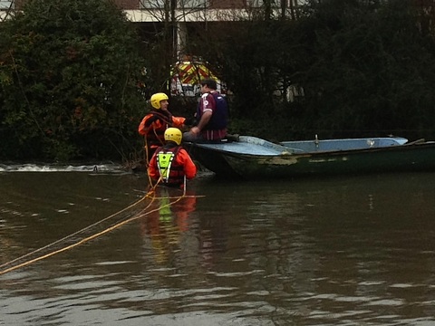 Firefighters rescue man from trapped boat in Canal