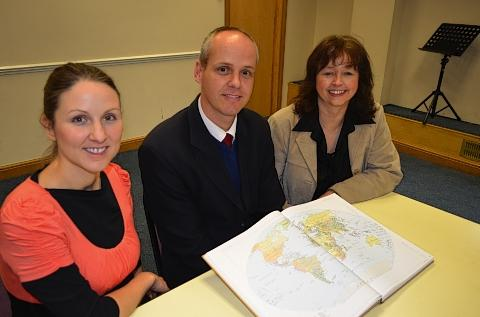 Watford Observer: Pastor Jacques Venter with Pastor Ivana Mendez (left) and Pastor Karin Wieczorek (right)