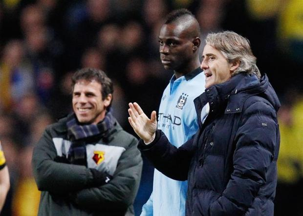 Watford boss Gianfranco Zola worked with Mario Balotelli at international level. Picture: Action Images