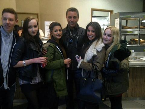 Gino D'Acampo visits college students