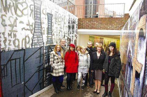 Art students' underpass mural unveiled