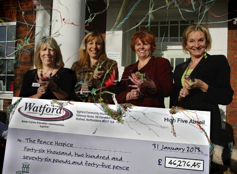 Watford Peace Hospice presented with charity cheque