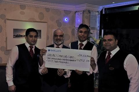 Tandoori restaurant holds dinner for Breast Cancer Care