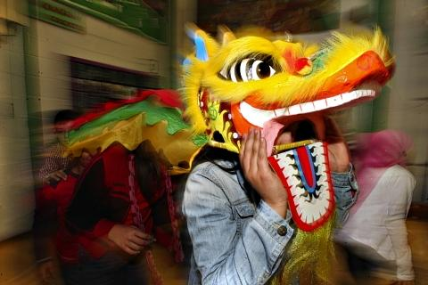 School pupils celebrate Chinese New Year