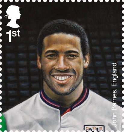 Barnes to feature on 'Football Heroes' stamps