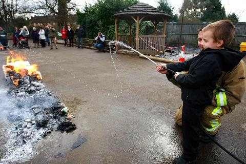 Pupils given firefighting masterclass