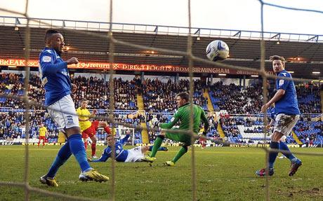 A through the net view of Almen Abdi's fourth goal for Watford. Picture: Action Images