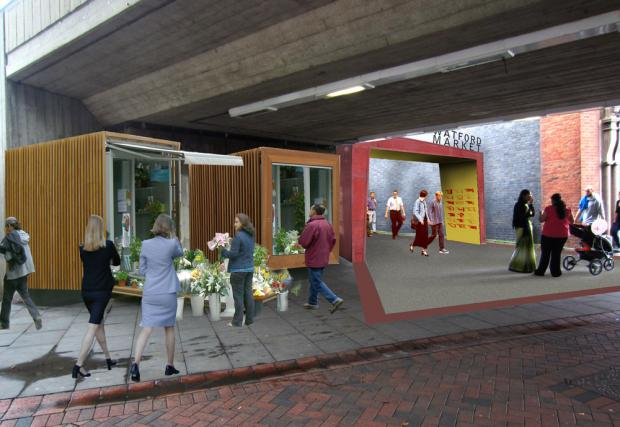 An artist's impression of the new market.
