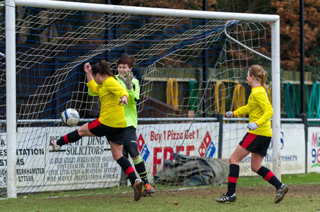Watford Ladies go close to scoring. Picture: Andrew Waller