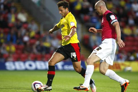Ross Jenkins during his last outing for Watford in August 2012. Picture: Holly Cant