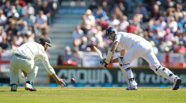 Steven Finn scored 20 runs for England. Picture: Action Images