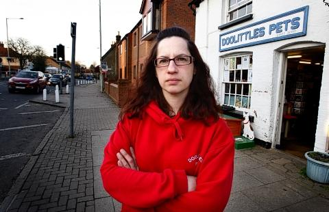 "Maria Pearson, who owns Doolittles Pets fears ""she may have to close her doors"" after business has declined."