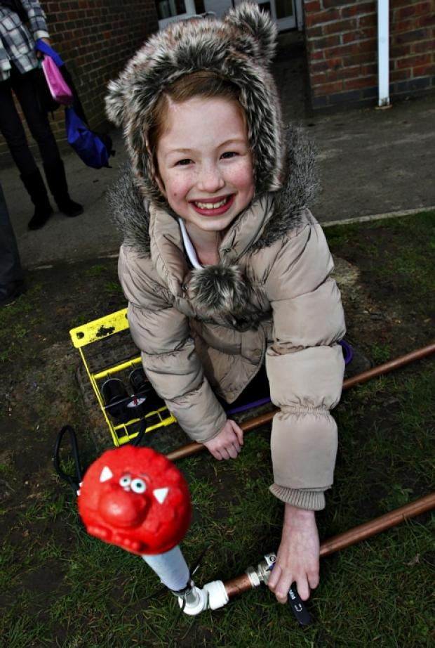 Red nose rocket launch at Radlett school