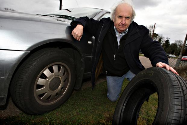 Angus Boyd is angry after the front tyre and rim of his Audi A4 had to be replaced because of damage caused by a pothole in Hunton Bridge Road.