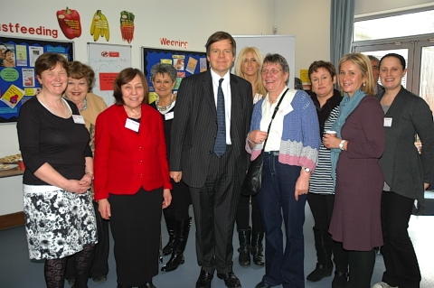 MP James Clappison visited volunteers from the Home Start branch which covers Radlett, Bo