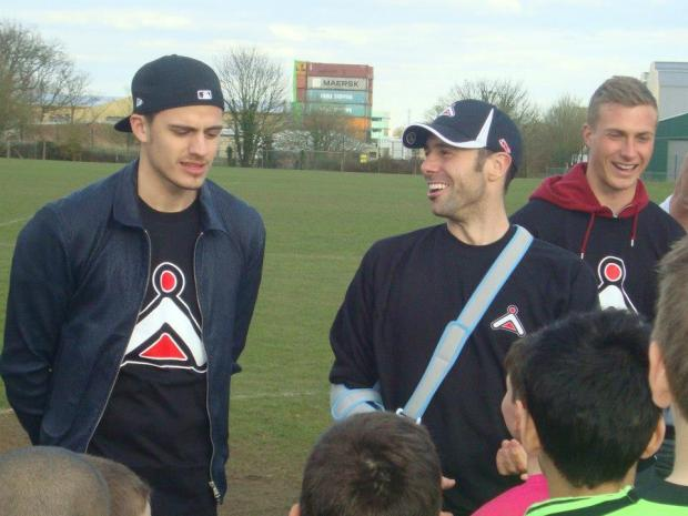 Watford's Jonathan Bond, Brentford's Richard Lee and Cardiff City goalkeeper Simon Moore at GK Icon' Watford's last open session last year