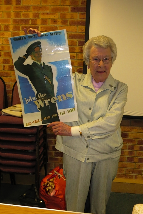 Zena Skinner entertained a Garston pensioners' group on Monday with a talk on her life in the Wrens during the Second World War