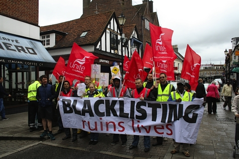 'Blacklisted' construction workers take to streets of Rickmansworth