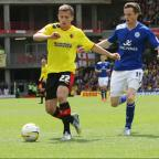 Almen Abdi in action against Leicester City. The midfielder said the game was one of the most exciting days of his career. Picture: Pippa Douglas