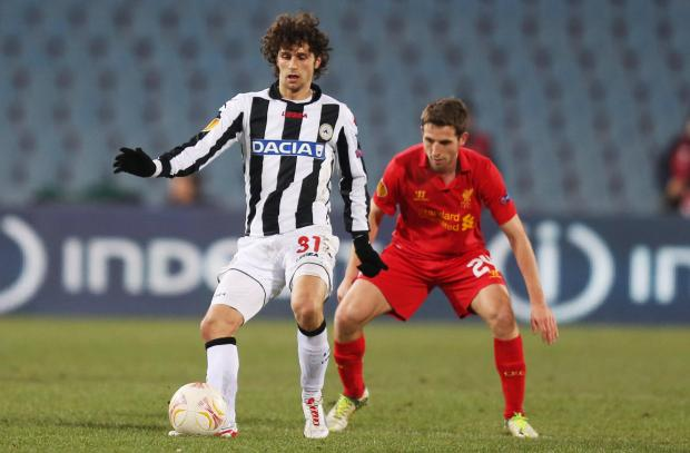 Diego Fabbrini joined the Hornets from Udinese. Picture: Action Images