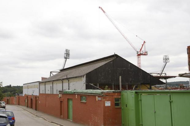 The main East Stand building will be demolished to ground level. Here it is pictured before the roof was taken off a couple of years ago.