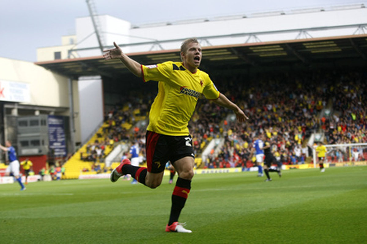 Matej Vydra enjoyed his best season in professional football at Watford. Picture: Holly Cant