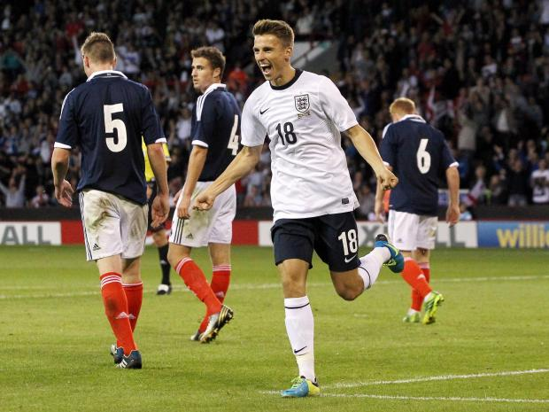 Tom Carroll scored for England Under-21s on Tuesday night. Picture: Action Images