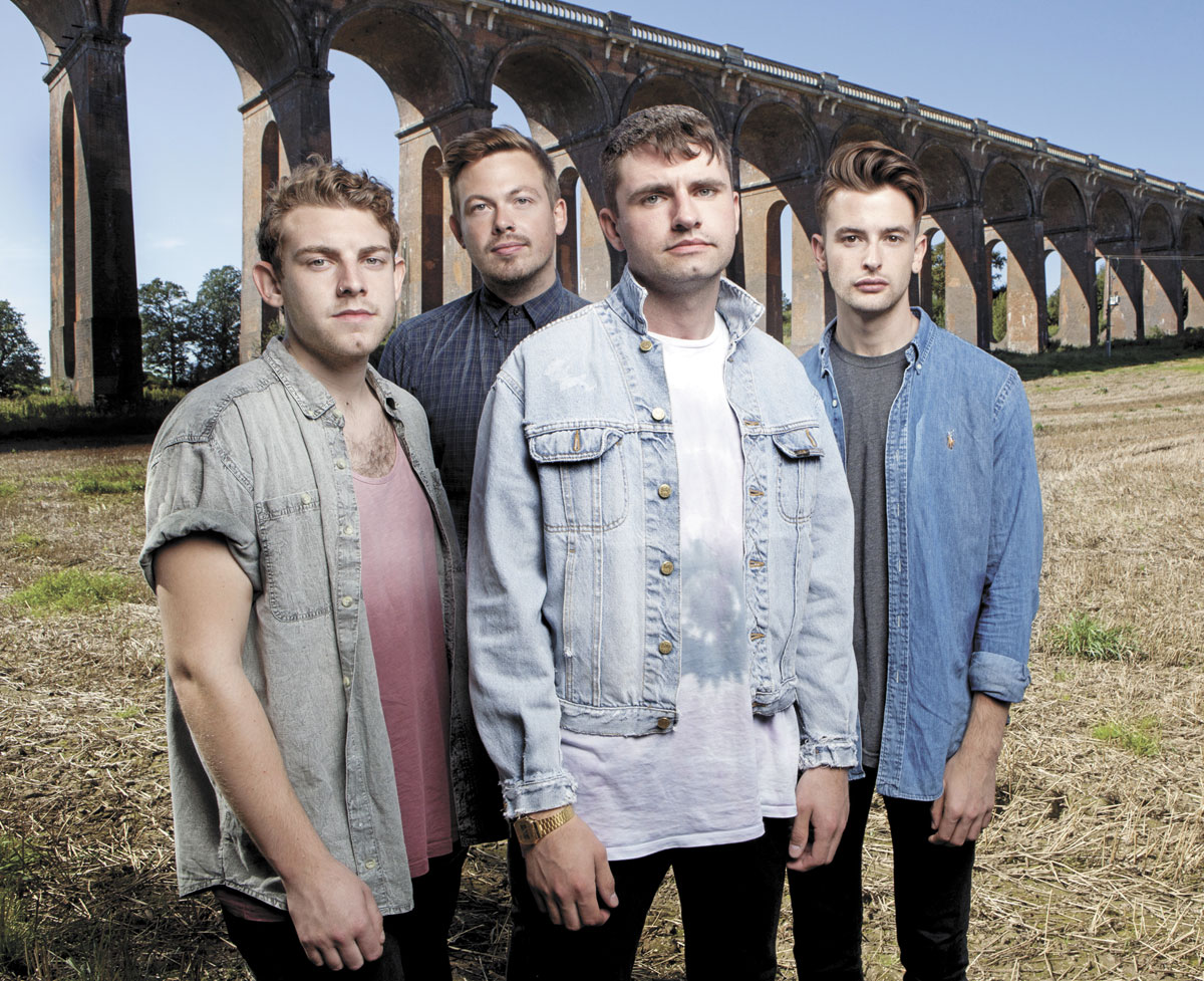 Mike Duce (centre) is front man of Lower Than Atlantis who are playing Reading