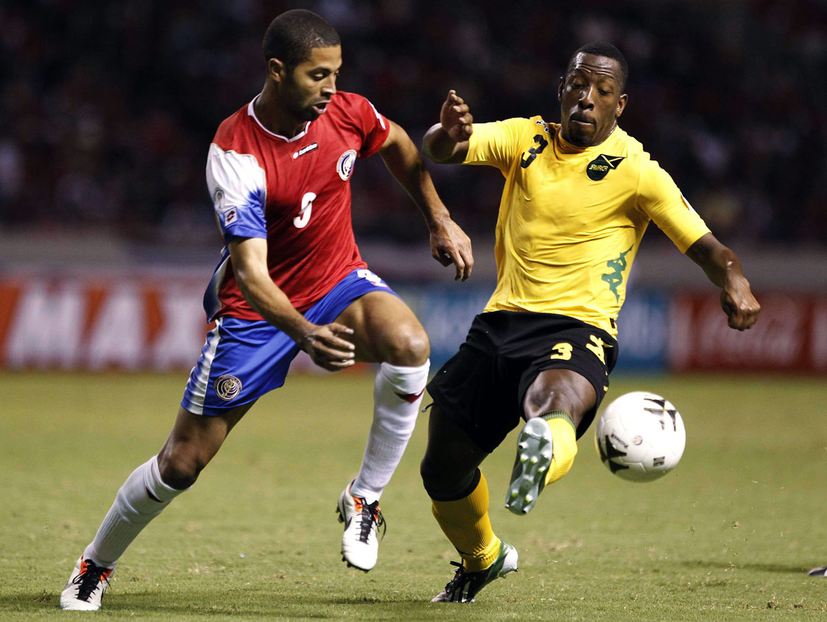 Lloyd Doyley in international action for Jamaica. Picture: Action Images