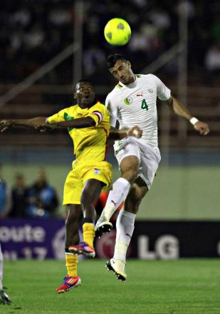 Essaid Belkalem, right, in action for Algeria. Picture: Action Images