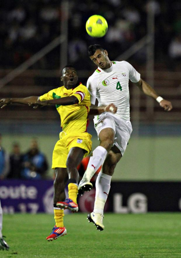 Watford Observer: Essaid Belkalem, right, in action for Algeria. Picture: Action Images