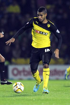 Lewis McGugan has impressed for Watford so far this afternoon. Picture: Action Images