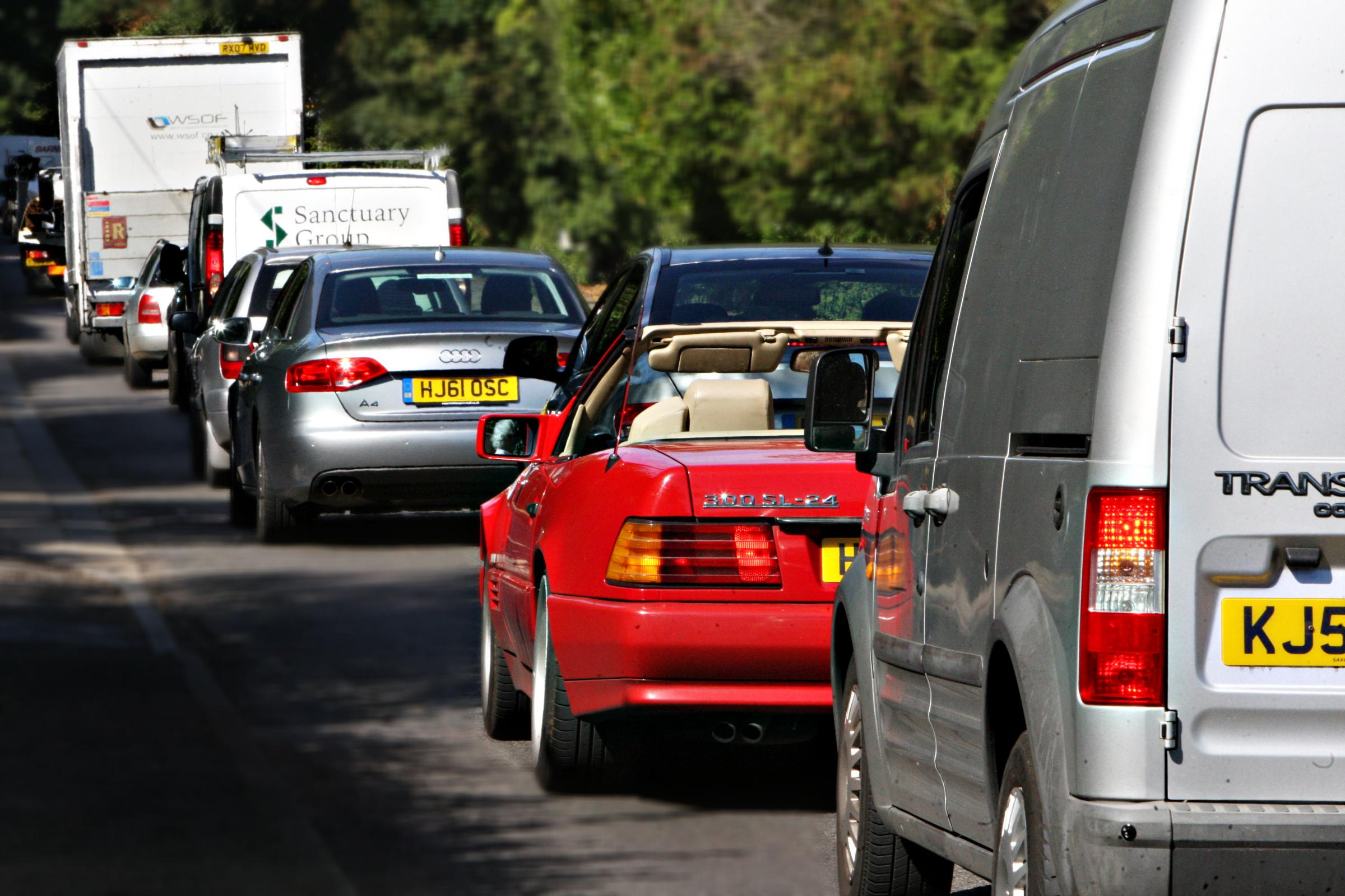 Motorists face long queues through Watford