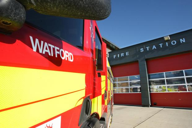 Crews attend Watford roof fire