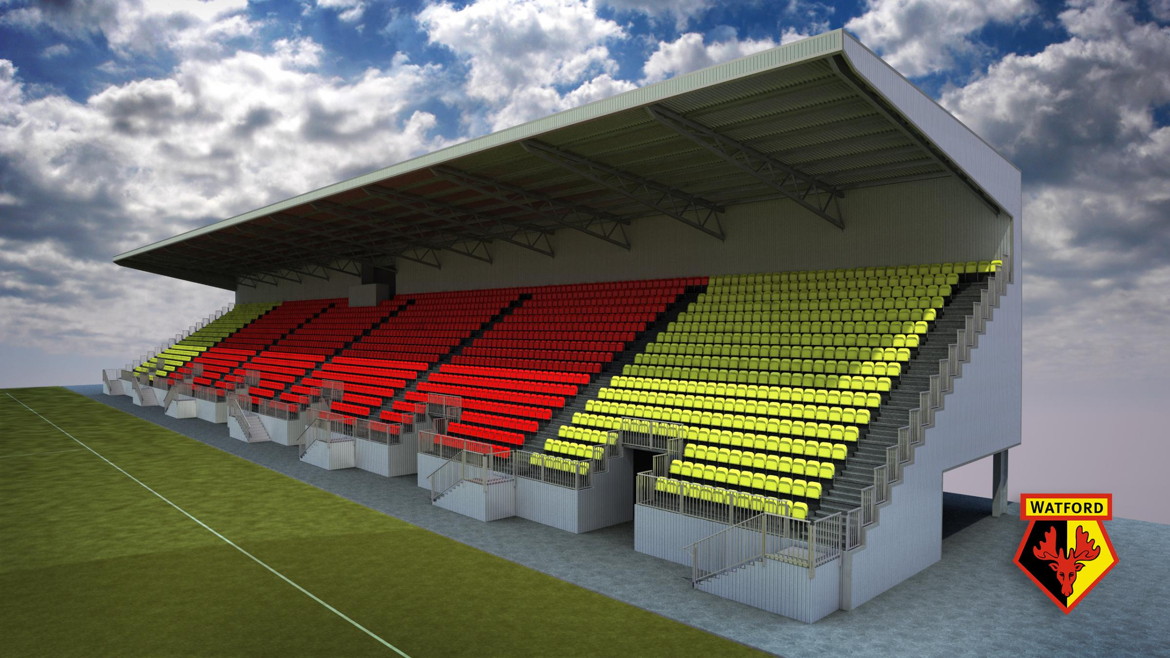Here is an initial design for the East Stand structure.