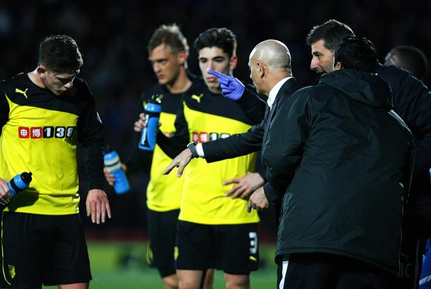 Watford Observer: Joel Ekstrand says Beppe Sannino is still able to get his message across despite the language barrier. Picture: Holly Cant