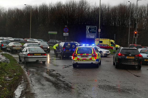 A41 now open in both direction after nine-car crash