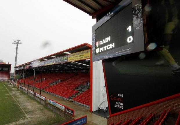 Rain is victorious: The Cherries' FA Cup clash against Burton Albion on Saturday was postponed. Picture: Action Images