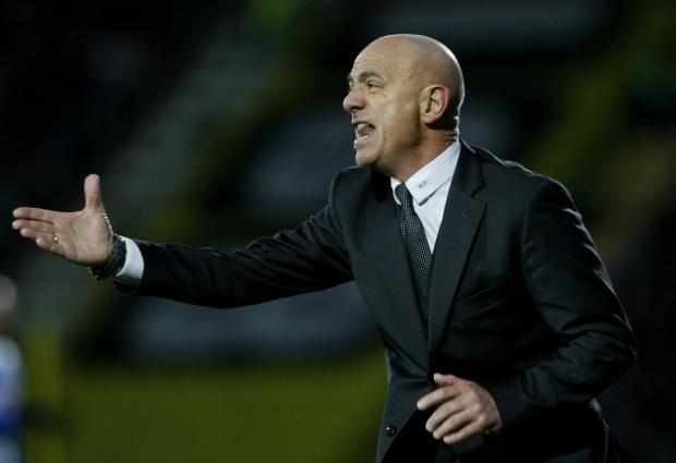 "Watford Observer: Beppe Sannino has ""maximum respect"" for Bristol City ahead of tonight's FA Cup replay. Picture: Holly Cant"