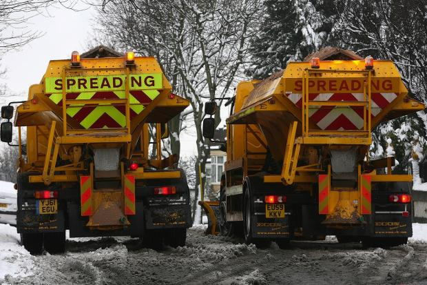 Gritters out to treat icy roads