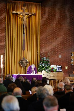'Charlie was my rock' - hundreds attend former editor's funeral