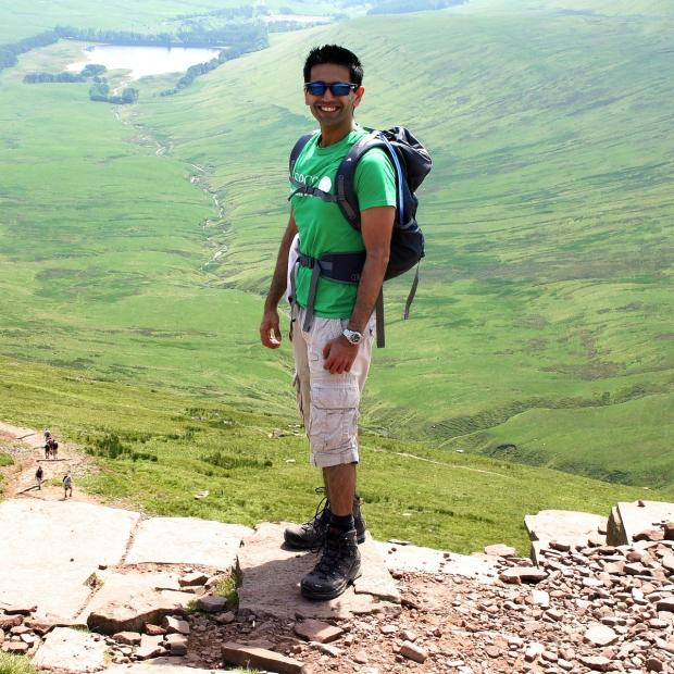 Watford Observer: Pritesh at Brecon Beacons National Park.