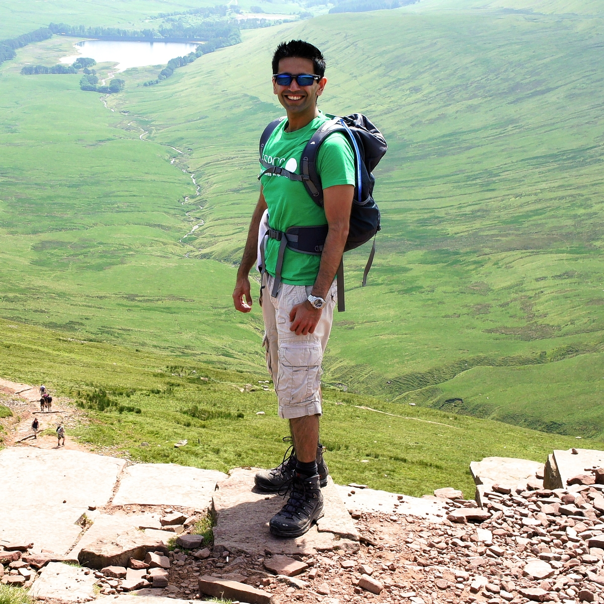 Pritesh at Brecon Beacons National Park.