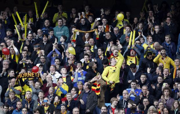 Hormets fans at the Etihad Stadium last season. Picture: Action Images